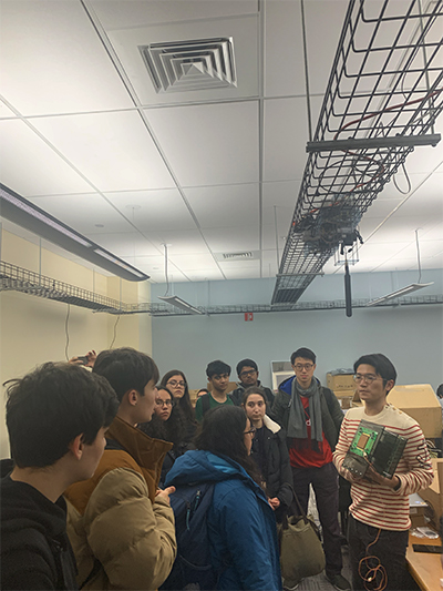 Students Examine 5G Infrastructure Used in West Harlem Testbed